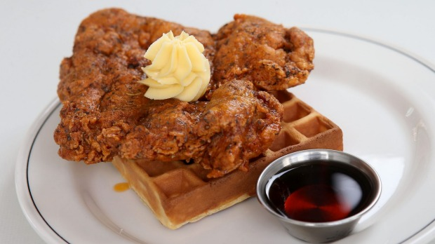 Fried chicken and waffles is a taste sensation (trust us).
