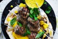 Jill Dupleix's chicken kofte skewers with with turmeric tahini.