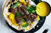 Jill Dupleix's chicken kofta skewers with turmeric tahini <a ...