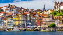 The town of Porto, on the Douro River, is in the heart of Portugal's wine country.