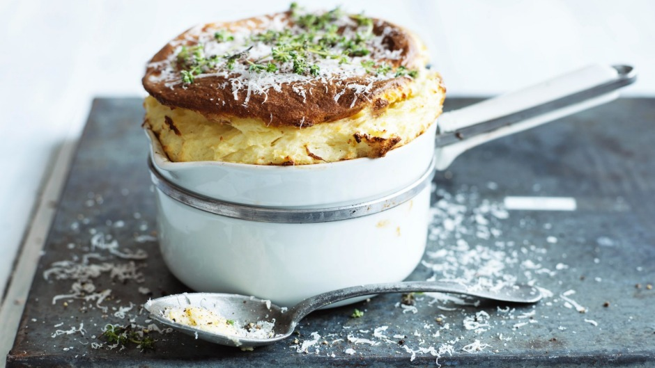 Jill Dupleix's really basic giant cheese souffle.
