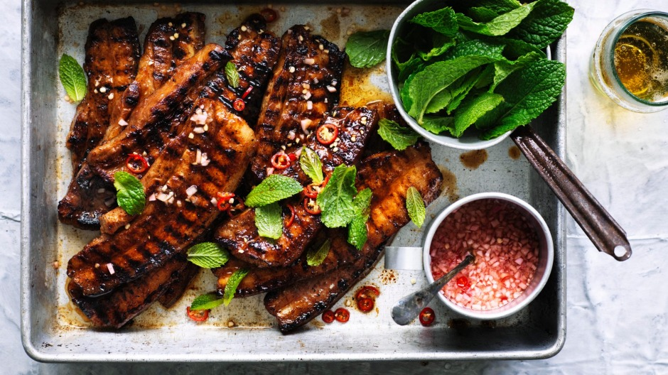 Philippines favourite: Barbecued pork belly with spiced vinegar.