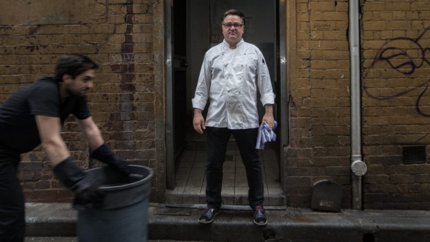 The bins will go when Guy Grossi transforms the laneway behind his Melbourne restaurant, Grossi Florentino.