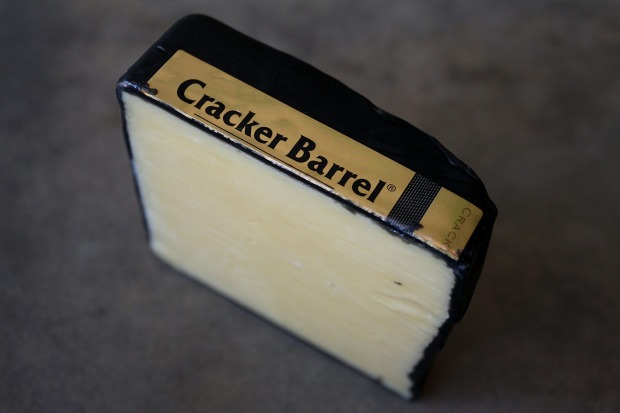 Cracker Barrel Gold Release Cheddar, $3.30 per 100g, 36/100