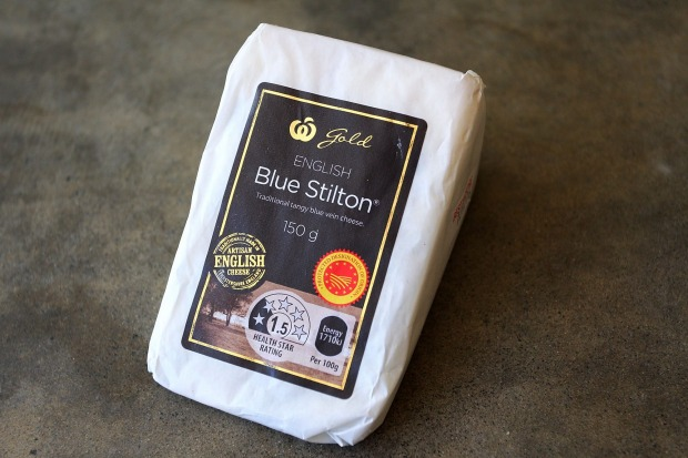 Woolworths Gold English Blue Stilton, $5.33 per 100g, 38/100