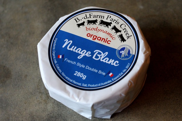B.-d. Farm Paris Creek French Style Double Brie, $3.02 per 100g, 70/100