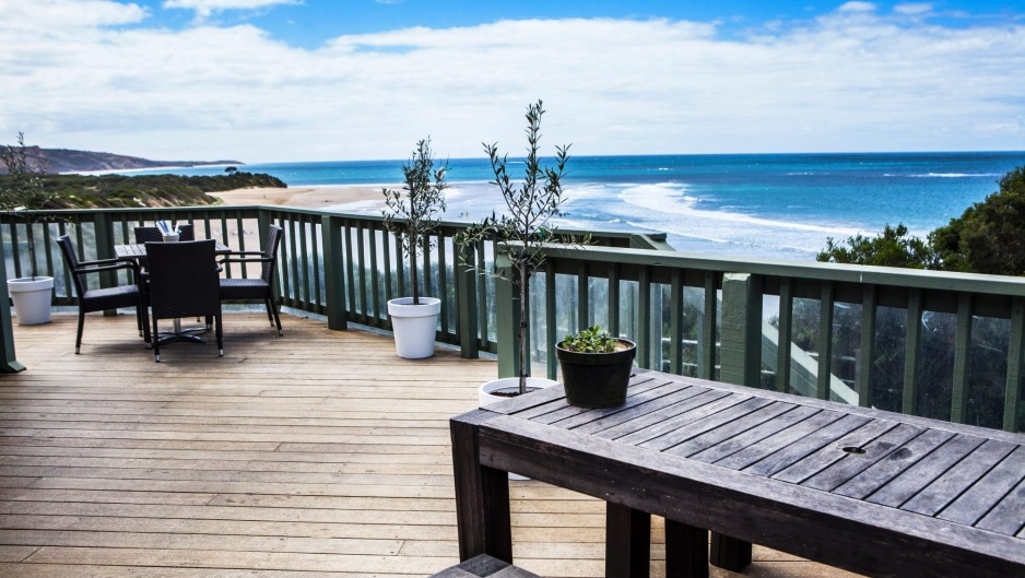 The deck at Captain Moonlite at the Anglesea Surf Lifesaving Club.