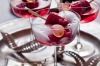 Karen Martini's rosewater and raspberry ice topped up with champagne <a ...