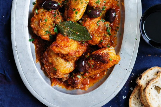 Neil Perry's classic chicken cacciatore (ready in one hour) won hearts and stomachs  <a ...