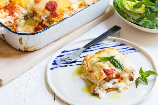 Karen Martini's summer vegetable lasagne is meat-free and built around the robust flavours of eggplant, tomato, basil ...