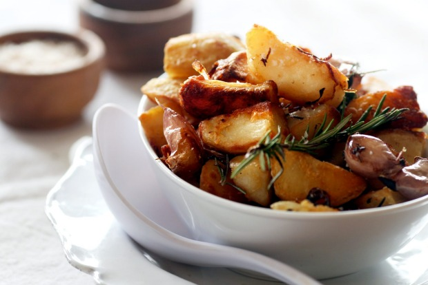 Duck-fat potatoes <a ...
