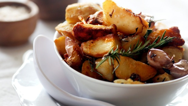 Duck-fat potatoes.