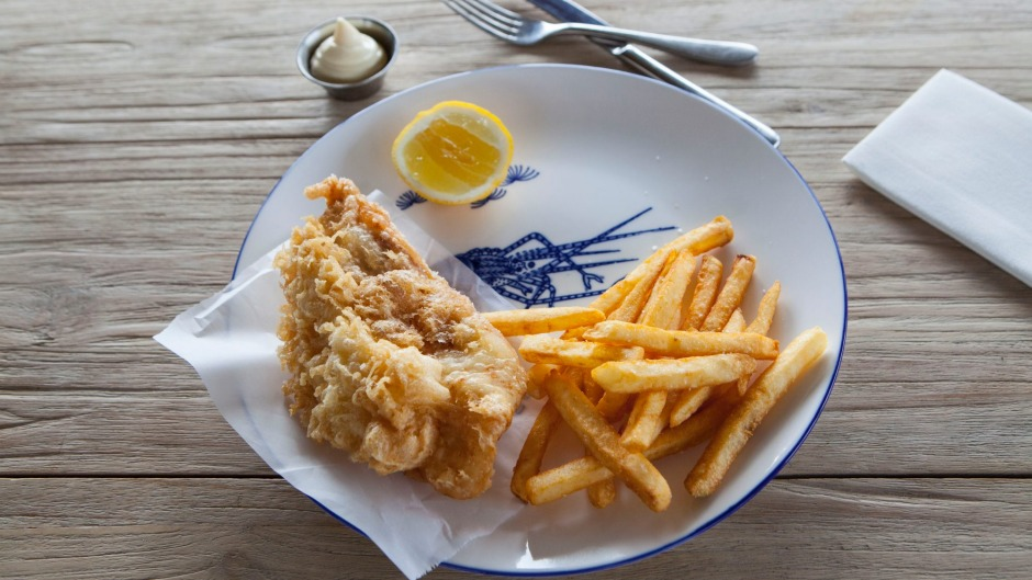 Fish and chips for surf rats at Captain Moonlite in Anglesea.