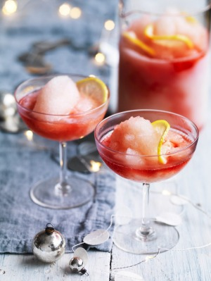 Adam Liaw's Campari frose punch for Christmas cocktails.