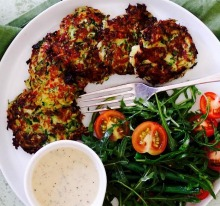 Zucchini and haloumi fritters are quick, healthy and delicious for all the family this summer
