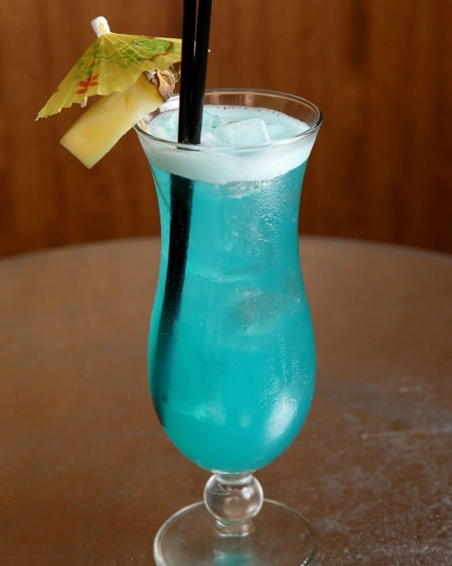 Retro: Good Heavens' Electric Blue cocktail.
