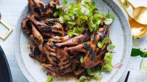 Neil Perry's barbecued quail for Christmas.
