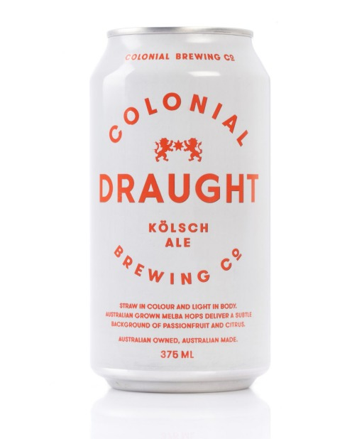 Colonial Brewing Co., Draught Kolsch Ale, 4.8% ABV