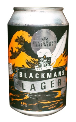 Blackman's Brewery, Unfiltered Lager, 4.6% ABV