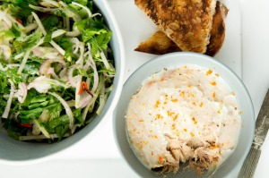 Snack attack: The Blue Ducks' pork rillettes with crunchy pear salad.