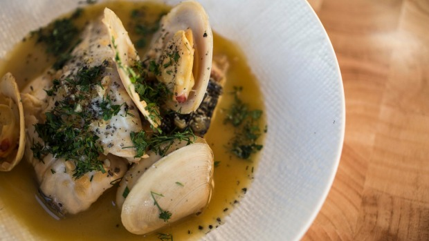 Go-to dish: Blue-eye trevalla with almejas (clams) and vermut bianco.