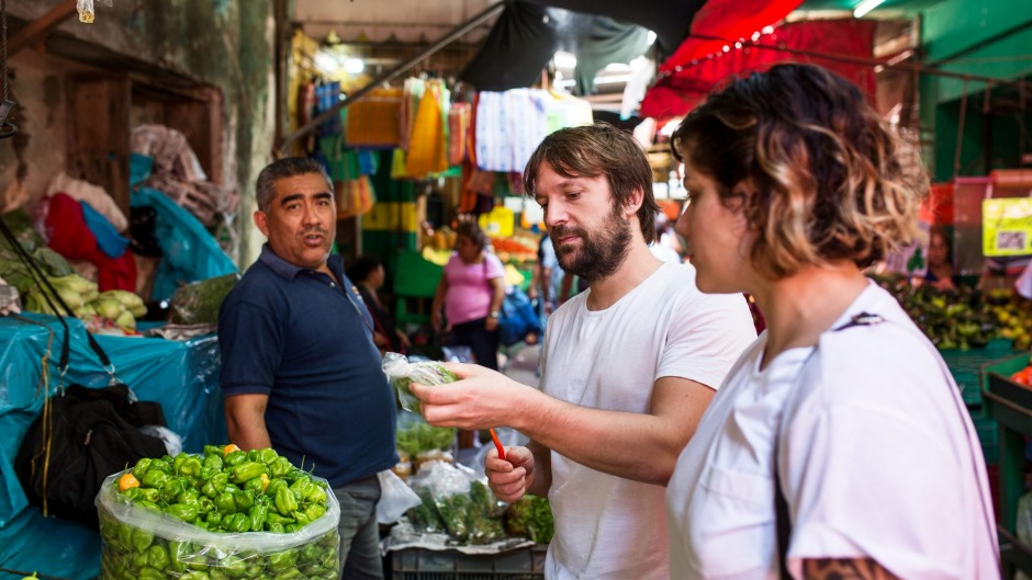 Mexican food delivers a slap to the face of flavour, says Rene Redzepi (centre).