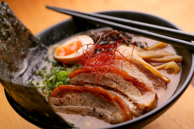 Flavour-packed: Pork belly ramen at Yoku Ono.