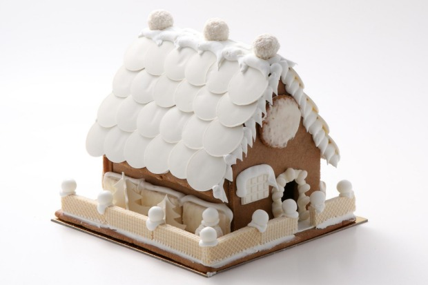 Adriano Zumbo's chic monochrome 'The White House' gingerbread house comes with lollies to hide inside, $82 (25cm x 25cm ...