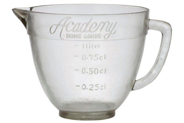 Academy brand has recreated an old-school glass measuring jug, perfect for your favourite hipster aka 'artisanal' baker, ...
