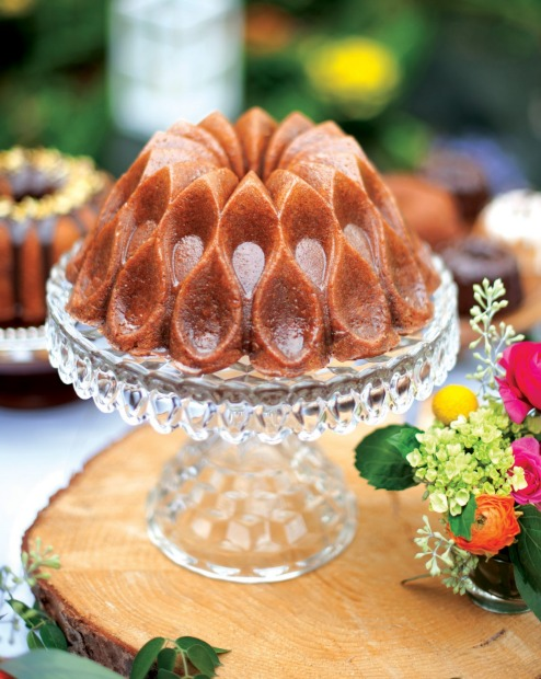 A cake baked in a crown pan would make a grand Christmas table centrepiece, $77.95, <a ...