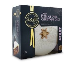 Specially Selected Luxury Iced All Over Christmas Cake 1kg, $15.99, 3.4/10