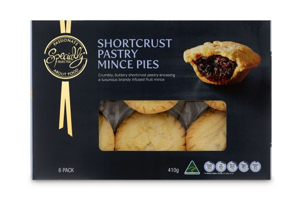 Specially Selected Shortcrust Pastry Mince Pies, 6 pack, $4.99, 7/10