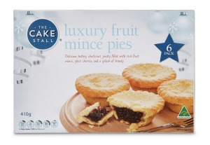 The Cake Stall Luxury Mince Pies, 6 pack, $3.29, 4.2/10