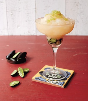 Frozen finger lime margarita.