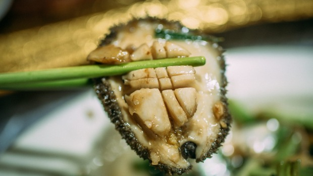 """The abalone has little flavour, but the texture is great,"" says Christopher Hogarth of Tai Chung Wah's stir-fried abalone."