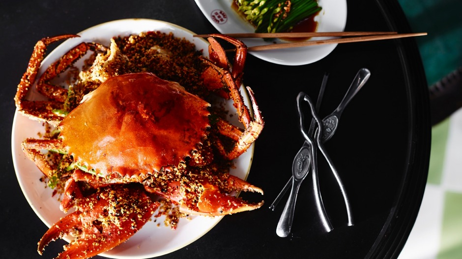 The typhoon shelter crab at Queen Chow, Merivale's new restaurant on Enmore Road.