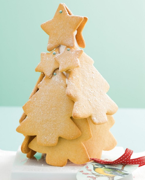Or assemble a freestanding biscuit Christmas tree <a ...