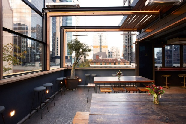 Bomba rooftop bar in the Melbourne CBD.