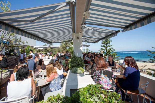 The Coogee Pav rooftop in full swing.
