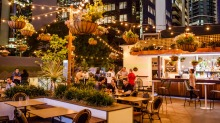 The Stock Exchange Hotel Outdoor Eating Area, Brisbane