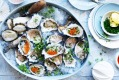 Matt Moran's Christmas starter: Oysters with chardonnay dressing.