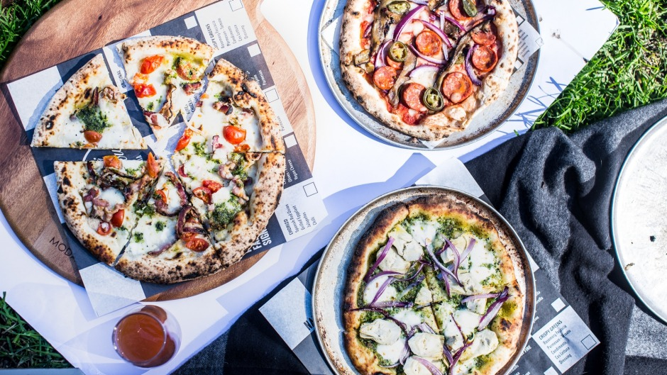 Fratelli Famous pizza is available to eat-in or takeaway to the park.
