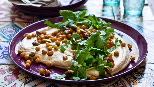 When hosting vegans, remember hummus is your friend.