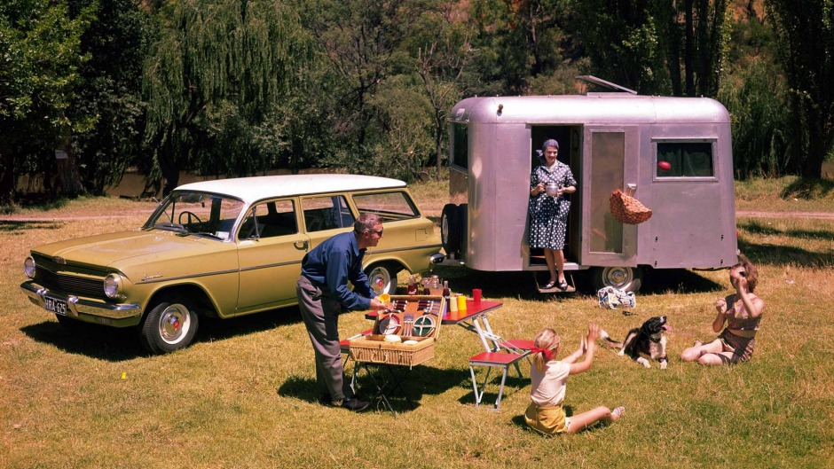 Camping out in the days before iPhones and double-shot lattes.