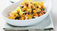 Pappardelle with pumpkin, spinach and napoletana sauce for Barilla campaign for Good Food.