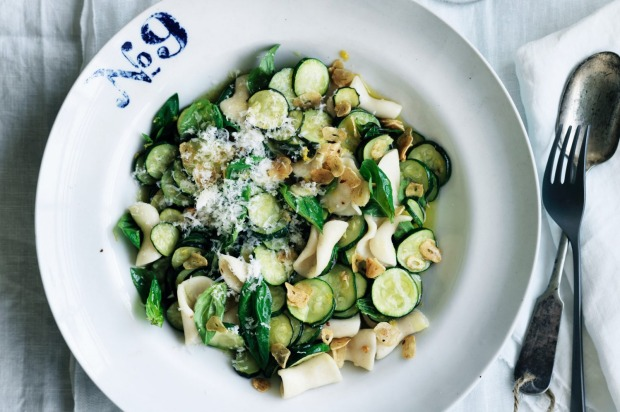 Neil Perry's hand-cut cavatelli pasta with zucchini and garlic <a ...