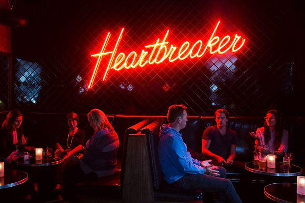 The interior of Heartbreaker dive bar in Melbourne's CBD.
