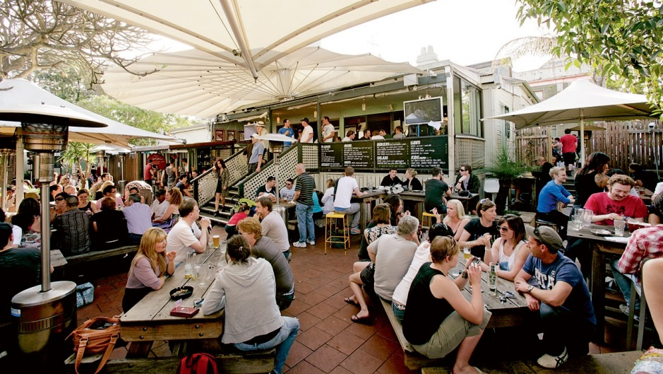 The Courthouse Hotel beer garden pumps on summer weekends.