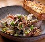 Clams and pipis with pork hock.
