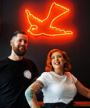 Vegan delights: Chef Michael Craig and partner Shelley Scott.